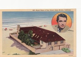 Vintage Postcard Beach Home of Cary Grant  Near Mint - $8.99
