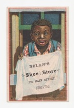 Antique Black Americana Advertising Card Nolan's Shoe Store - $9.99
