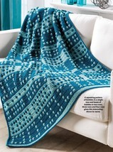 W930 Crochet PATTERN ONLY 1-2-3-4 Repeating Bobble Afghan Pattern - $7.50