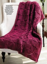 W935 Crochet PATTERN ONLY Windmill Quilt Like Popcorn Afghan Throw Pattern - $8.50
