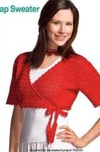 W909 Crochet Pattern Only Cropped Wrap Sweater Pattern - $7.50