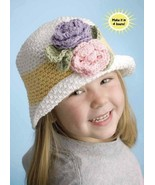 W912 Crochet PATTERN ONLY In Her Easter Bonnet Child or Adult Hat Pattern - $8.50