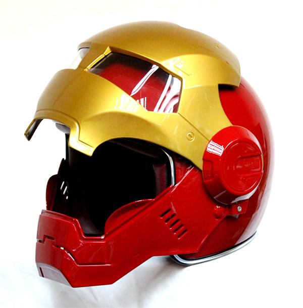 Masei 610 Atomic Motorcycle Helmet Red M L XL image 4