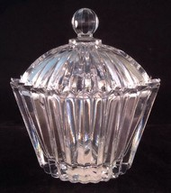 Mikasa Symmetry Oval Covered Trinket Box Clear Glass Crystal w Lid QQ271... - $12.95