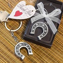 72 Horseshoe Key Chain Favors Wedding Bridal Shower Party Gift Casino Lucky - $84.98