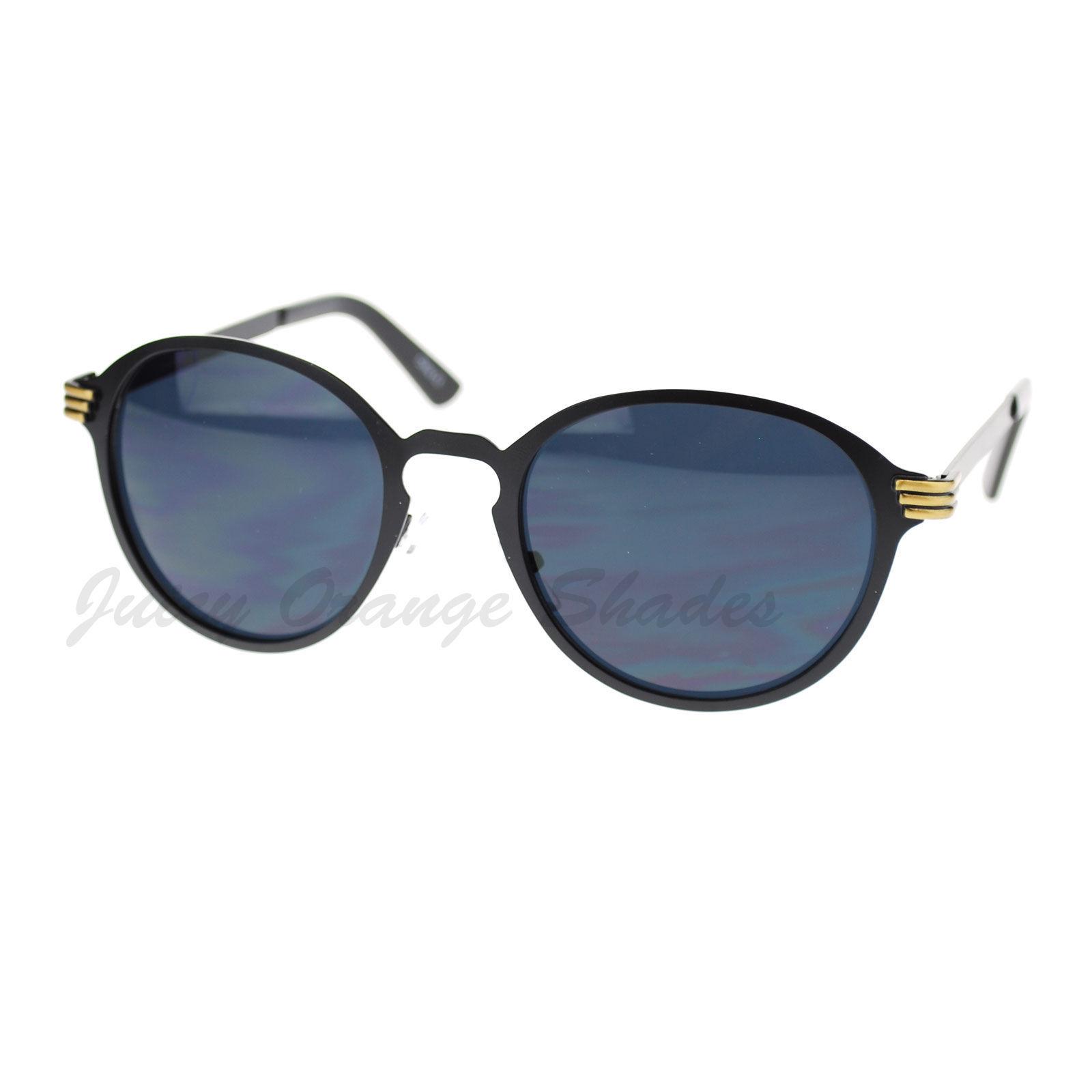 Womens Fashion Sunglasses Vintage Round Keyhole Metal Frame