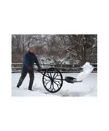 Snow Shovel Wheel Removal Heavy Duty Plow Wide Blade Thrower Winter Fold... - $240.58