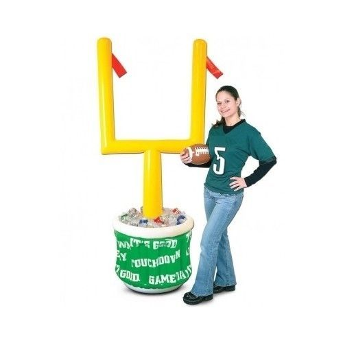 Football Super Bowl Inflatable Cooler Drink Ice Party Supply Tailgate Goal Post