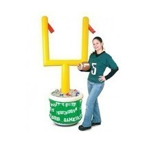Football Super Bowl Inflatable Cooler Drink Ice Party Supply Tailgate Go... - £39.45 GBP