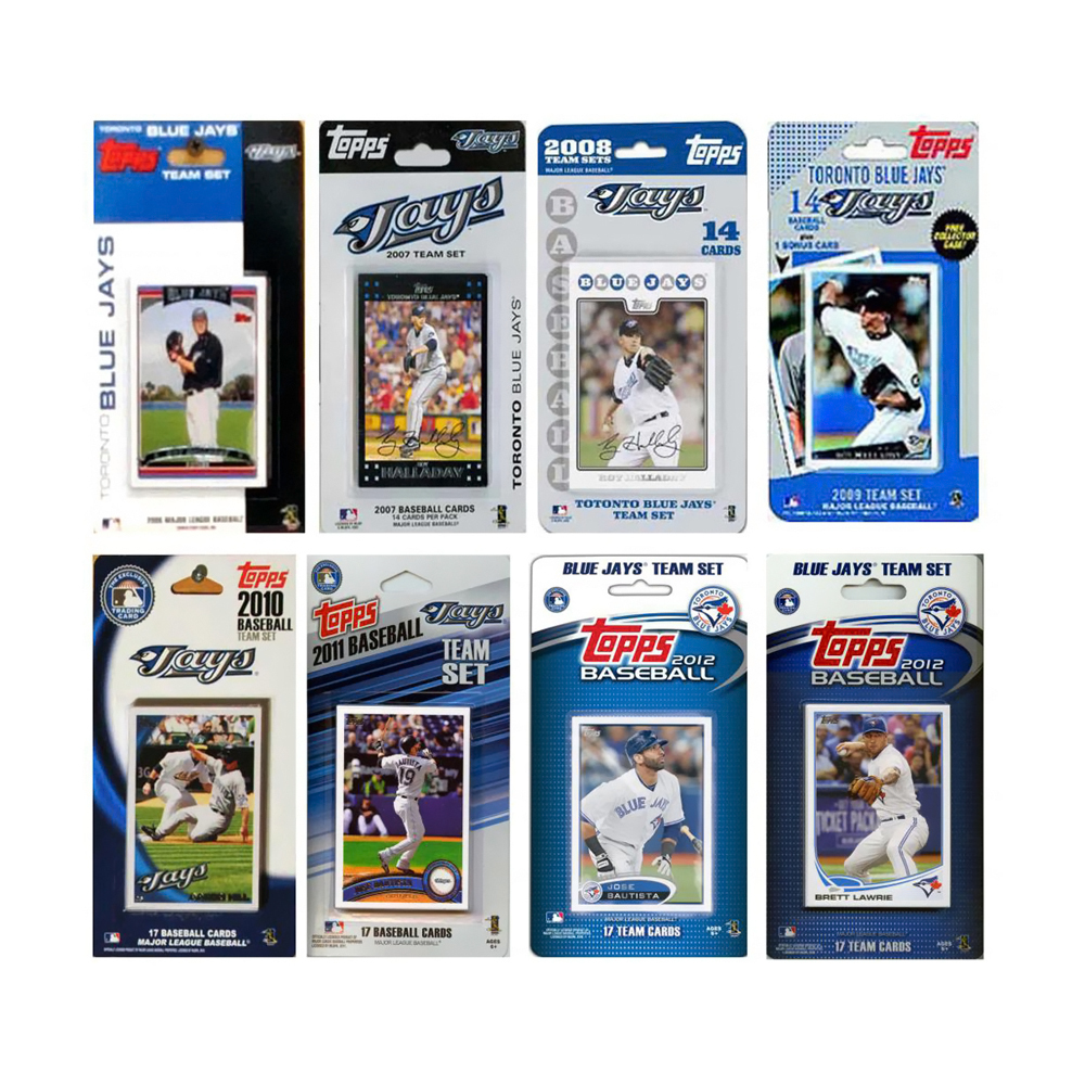 MLB Toronto Blue Jays 8 Different Licensed Trading Card Team Sets JAYS813TS - $38.99