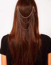 punk exquisite temperament bowknot hair Tassels... - $8.63