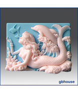 Mermaid Selena and Dolphin  - Handmade Scented Soap  - $6.50