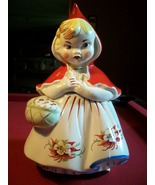 Vintage Regal Little Red Riding Hood Cookie Jar w/ Poinsettias-The Real ... - $325.00