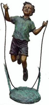 Boy Jumping Skipping Rope American Bronzes Lost... - $4,395.00