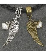 Fresh Water Pearl Angel Wings Dangle Large Hole Bead for European Charm ... - $8.99