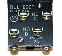 ALLEN BRADLEY 800T-H2 SELECTOR SWITCH W/ 800T-XA9, 800T-XA CONTACT BLOCKS image 5