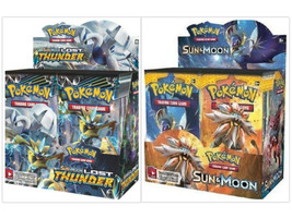 Pokemon TCG Sun & Moon Lost Thunder + Sun & Moon Base Set Booster Box Bu... - $219.99