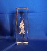 Tall (Six Inch) 3D Laser Etched Glass Cube Praying Angel  - $11.99
