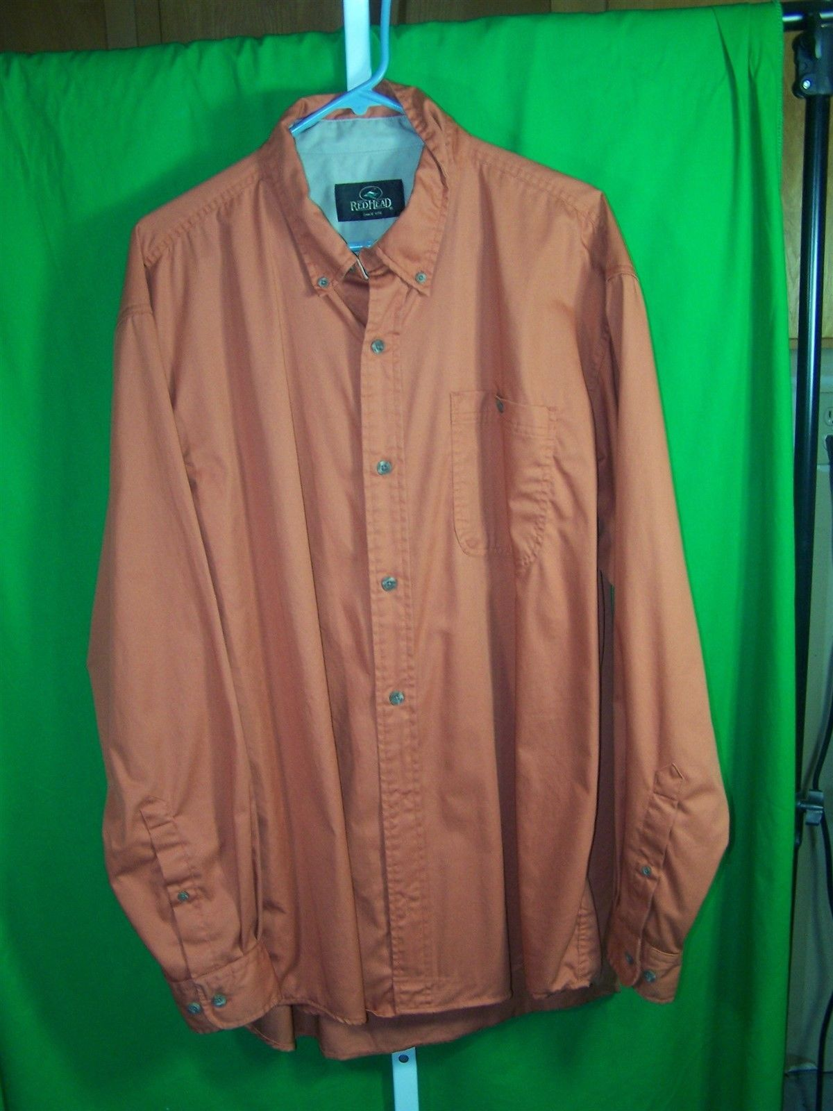 Redhead mens xl shirt button down collar three button for Three button collar shirts