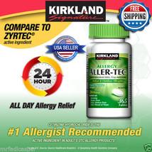 Kirkland Aller-Tec Cetirizine HCL 10 mg/Antihistamine 365 Tablets Zyrtec - $24.30