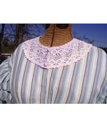 Victorian Edwardian Dress Collar Crochet HandMade Fancy USA  Vintage  - $18.00