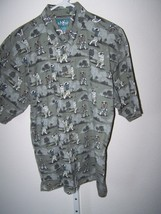 Big Dogs large mens short sleeve shirt  dogs playing golf pattern - $9.99