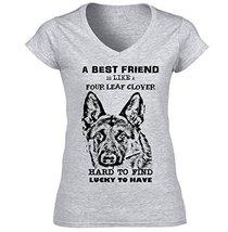 German Shepherd Dog Best Friend B   Cotton Graphic Grey T Shirt Medium Size - $22.49