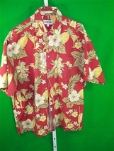 Campia mens Large  short sleeve floral print Hawaiian shirt - $7.49