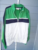Aeropostale men's XL  light weight jacket off white with green and black... - $12.99