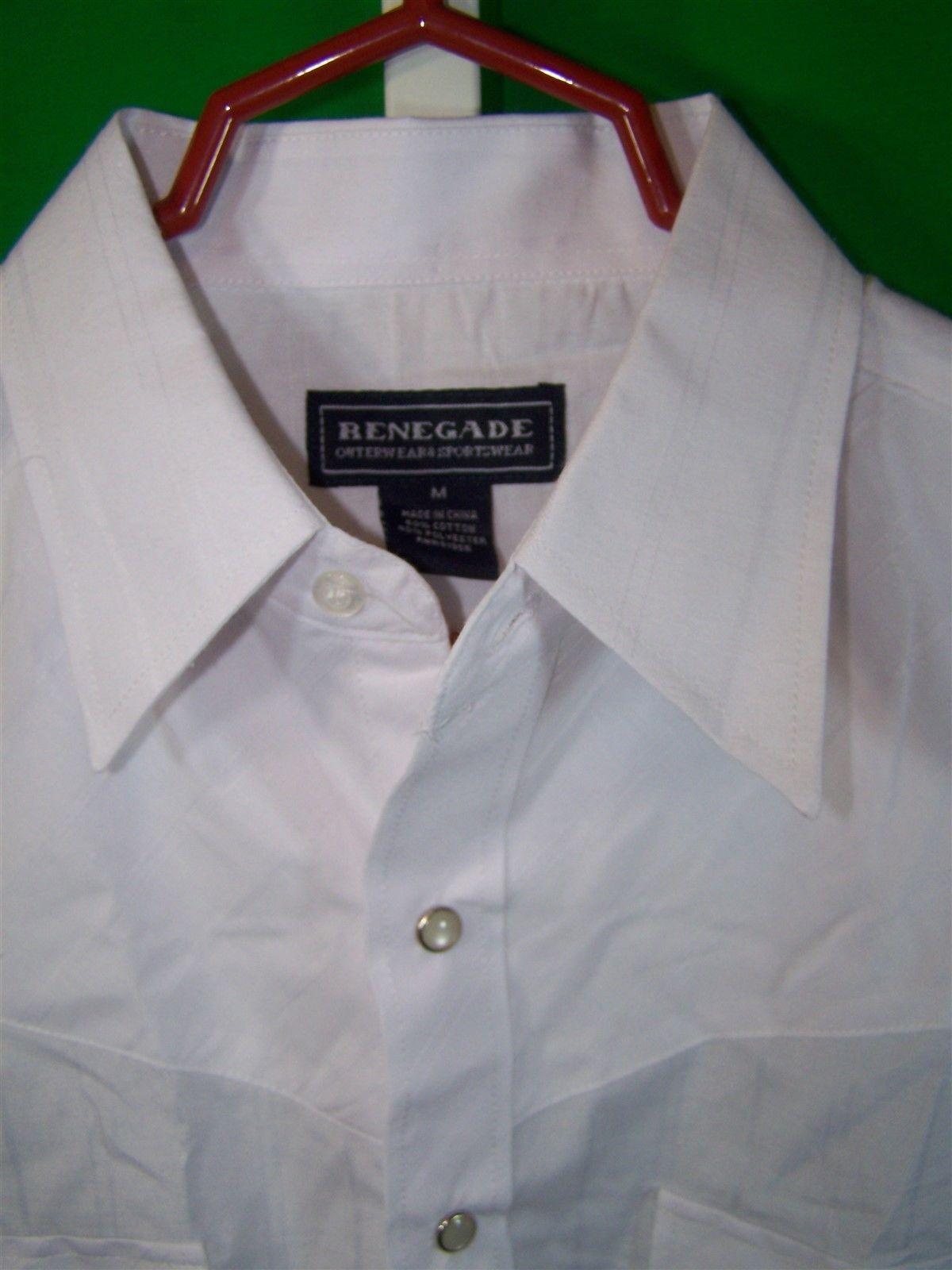 Renegade mens medium long sleeve western shirt pearlized for Mens medium long sleeve shirts