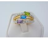 Tricolor cubic zirconia ladies fashion ring  2  thumb155 crop