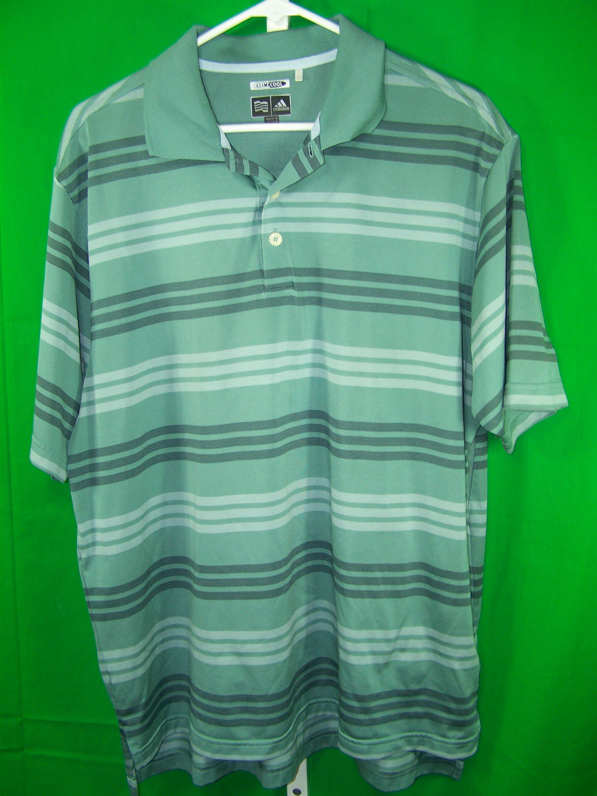 Adidas mens sz large short sleeve pullover shirt no for Mens pullover shirts short sleeve