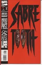 Marvel Sabretooth #1 Premiere Issue Death Hunt Die Cut Cover Adventure M... - $2.95
