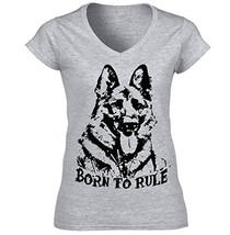 German Shepherd 2 Born To Rule P   Cotton Graphic Grey T Shirt Xx Large Size - $22.49