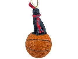 Great Dane Black w/Uncropped Ears Basketball Ornament - $17.99