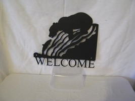 Bear 005 Welcome Small Metal Wall Art Silhouette - $37.00