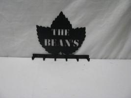 Maple Leaf 6 Hook Key Holder Metal Wall Art Silhouette - $42.00