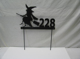 Witch Address Sign Custom Metal Yard Art - $53.00