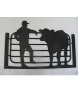Farmer and His Cow Metal Wall Art Silhouette by cabinhollow - $65.00