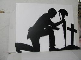 Soldier Praying XLarge Silhouette Metal Wall Yard Art - $160.00