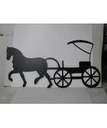 Horse and Wagon CH 001 Metal Farm Wall Art Silhouette - $150.00