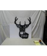 Deer Head 004 with Name Metal Wildlife Wall Art Silhouette - $110.00