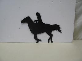 Horse Rider Western Metal Wall Art Silhouette - $50.00