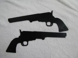 Pistol Metal Wall Art Western Silhouette Set of (2) - $29.00