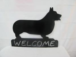 Corgi Welcome Large Metal Dog  Wall Yard  Art Silhouette - $65.00