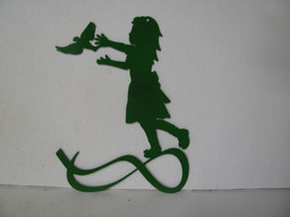 Girl Bird 002 Metal Wall Yard Art Silhouette - $32.00