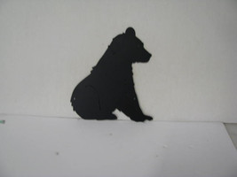 Bear Sitting Metal Wildlife Wall Yard Art Silhouette - $75.00