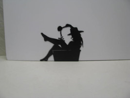 Cowgirl 001A Western Metal Wall Yard Art Silhouette - $65.00