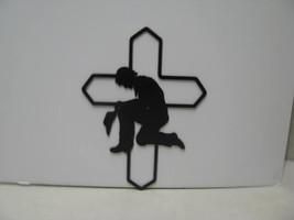 Cowboy Praying 009 Metal Wall Yard Art Silhouette - $60.00