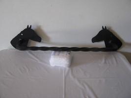 Horse Head Towel Rack (head facing in) Metal Wall Art Silhouette - $29.00